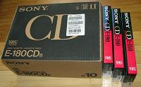 Отдается в дар sony vhs видеокассета E-180 3 штуки