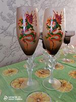 Отдается в дар Фужеры для шампанского, год дракона 2000