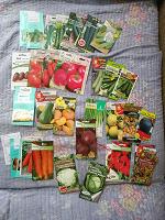 Отдается в дар Семена овощей и прочего