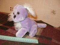 Отдается в дар Мягкая сиреневая игрушка собака