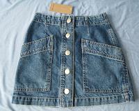 Отдается в дар Юбка джинсовая голубая