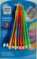 Отдается в дар Шнурки цветные силиконовые 10 шт.