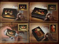 Отдается в дар Федоскинская миниатюра (картмаксимумы)