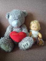 Отдается в дар Мишка, пупс и кукла