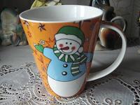 Отдается в дар Кружка-бокал со снеговиками