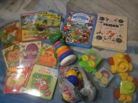 Отдается в дар книги и игрушки для малышей