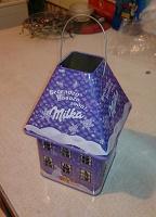 Отдается в дар Новогодний домик-фонарик