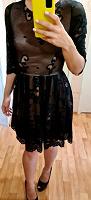 Отдается в дар Чёрное кружевное платье, 42 размер
