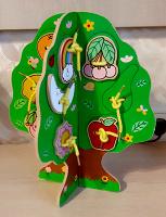 Отдается в дар Детская игрушка — шнуровка-дерево