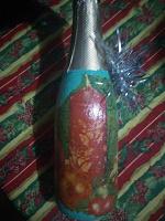 Отдается в дар Декупаж бутылка С новым годом!