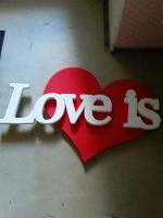 Отдается в дар Буквы LOVE IS