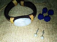 Отдается в дар Бижутерия — браслет, запонки, сережки