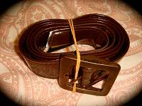 Отдается в дар Ремень лаковый коричневый