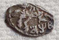 Отдается в дар Пётр I (копейки-чешуйки). Копейка (АѰВ) 1702 года. Ag.