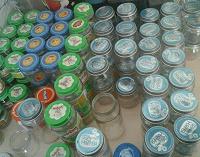 Отдается в дар Стеклянные баночки из-под детского питания