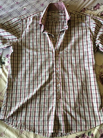 Отдается в дар Рубашка мужская в клетку