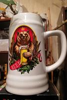Отдается в дар Кружка для пива «Медведь» 500 мл