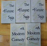 Отдается в дар книги на английском John Galsworthy The Forsyte Saga + A Modern Comedy