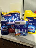 Отдается в дар Порошок для посудомоечной машины, ополаскиватель и соль.