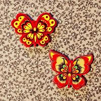Отдается в дар Бабочки на магнитах