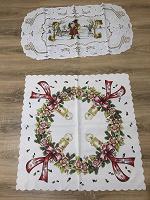 Отдается в дар Две новогодние скатерти