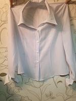 Отдается в дар Белая блузка 44-46 размер