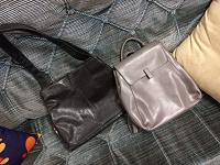 Отдается в дар Кожанные сумка и рюкзак