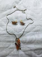 Отдается в дар Комплект: цепочка с кулоном и серьги