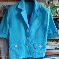 Отдается в дар Летний женский пиджак с коротким рукавом.