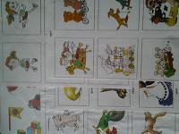 Отдается в дар Ламинированные карточки для обучения дошкольников