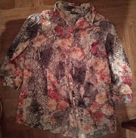 Отдается в дар Кофта рубашка Цветочная 48-50 модный принт