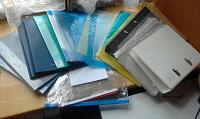 Отдается в дар Канцелярия: папки, файлы, пластиковые конверты