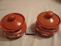 Отдается в дар Горшочки керамические из-под масла