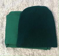 Отдается в дар Зелёные шапка и шарф