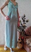 Отдается в дар длинное вечернее платье лазурного цвета 44 р-ра