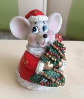 Отдается в дар Мышка новогодняя — фигурка — копилка