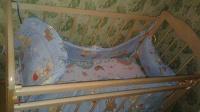 Кроватка детская с матрасом и аксессуарами