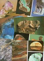 Отдается в дар Открытки из набора открыток с минералами
