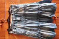 Отдается в дар Юбочка джинсовая по колено или выше, р. М