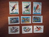 Отдается в дар марки с птичками