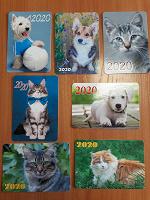Отдается в дар Карманные календарики киски — собачки