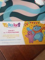 Отдается в дар Билет в Заманию