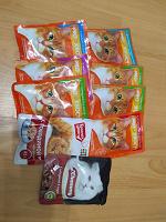 Отдается в дар Влажный корм в пакетиках 85 гр (9 штук)