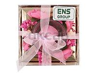 Отдается в дар Свеча декоративная «Фиалка» в подарочной упаковке ENS GROUP… Новая.