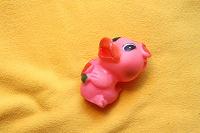 Отдается в дар Игрушка розовая уточка