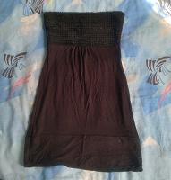 Отдается в дар Чёрное платье-бандо XS-S