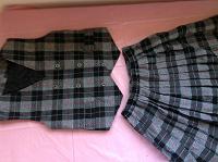Отдается в дар школьная форма для девочки: жилет и юбка
