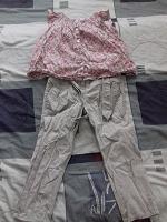 Отдается в дар Летние брюки и блузка на девочку 4-5 лет