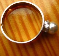 Отдается в дар Кольцо серебристое бижутерия