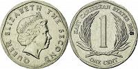 Отдается в дар Монета 1 цент Восточные Карибы 2008
